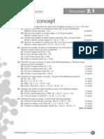 Moles and Equations - Worksheets 2.1-2.11 1 Ans