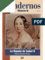Cuadernos Historia 16, nº 054 - La España de Isabel II