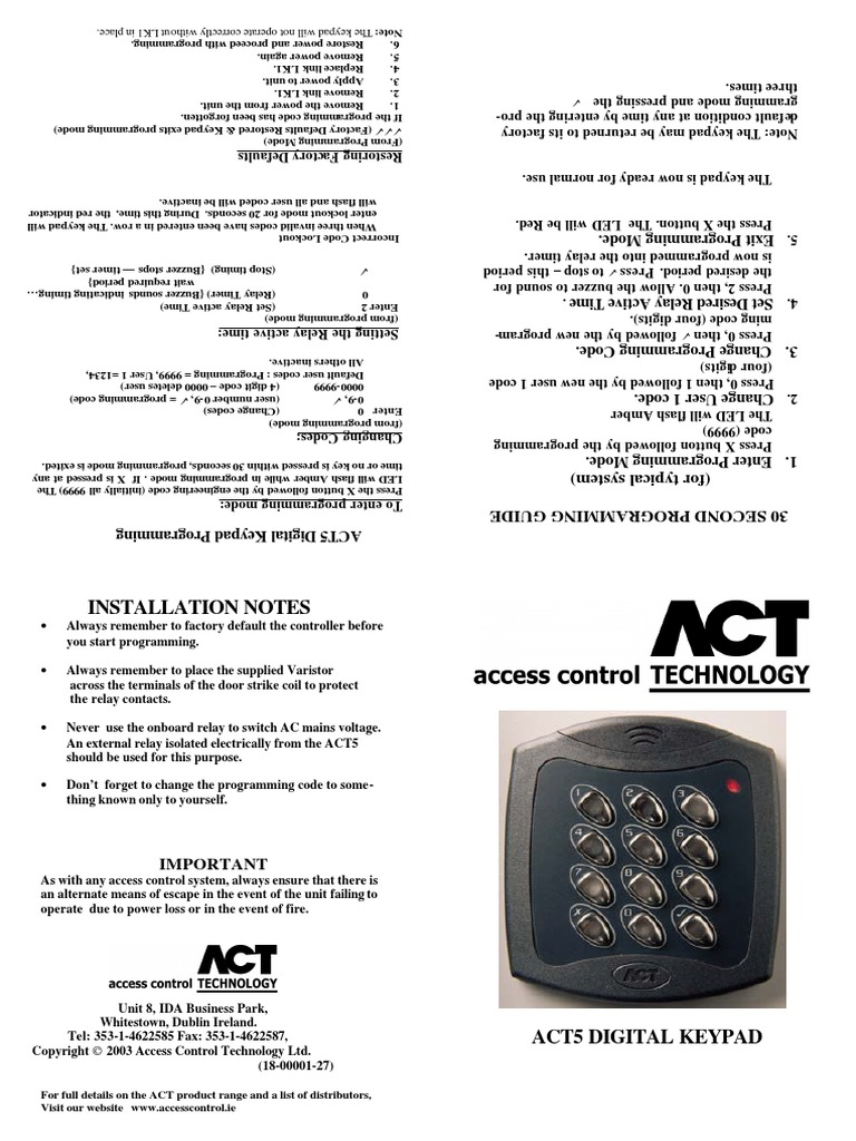 1500899765 act 5 keypad wiring diagram efcaviation com act 5 wiring diagram at eliteediting.co