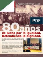 PSOE - 80 Años de lucha por la igualdad en Arroyo de la Luz