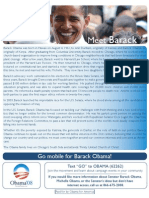 Barack Obama 08 Go Mobile Flyer
