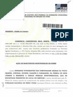 Ação de Reintegraçao de posse contra os povos indigenas