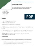 Control Break Statements SAP ABAP