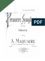 Maquaire a. - Premiere Symphonie Pour Orgue