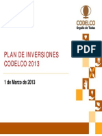 Plan de Inversiones Codelco 2013 Final 01mar2013