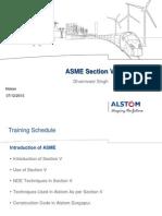 ASME Section v Training