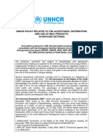 UNHCR Milk Product Policy 2006 English