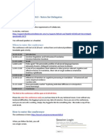 1 Processresearch2013 Info for Delegates