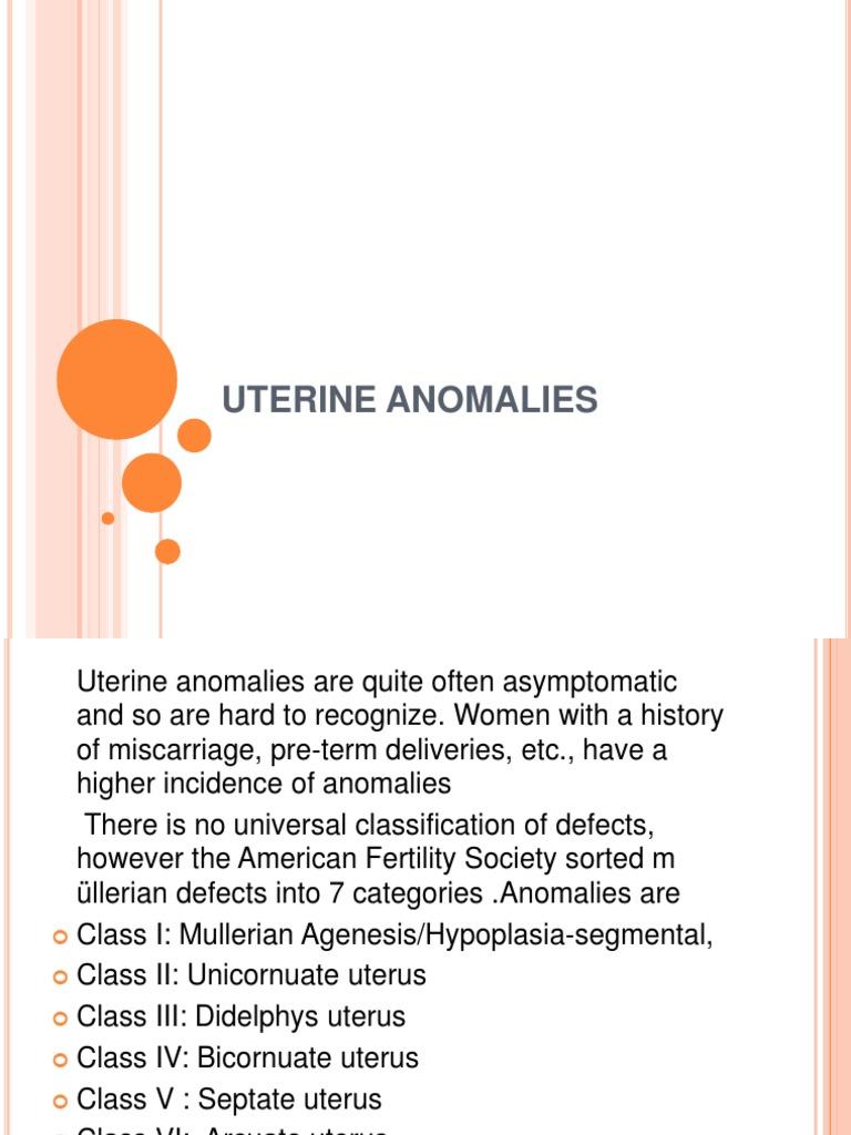 Uterine Anomaly Fibroid Uterus Ovarian Tumor Uterine Prolapse