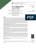 Does Intervalling Effect Affects ETFs - Milonas, Rompotis