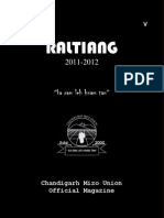 RALTIANG. VOL V. OFFICIAL CHANDIGARH MIZO UNION MAGAZINE