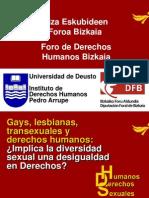 Gay, lesbianas, transexuales y derechos humanos