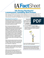 Reducing Falls Installing Roof Trusses Factsheet