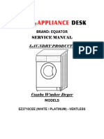 Equator Combination Washer-Dryer Service Manual 3710