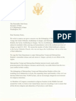 Letter to Sec. Kerry Urging Release of Kidnapped Syrian Bishops