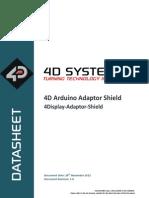 4D Arduino Adaptor Datasheet REV1