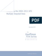 Analyzing the 2004-2011 KFS Multiply Imputed Data