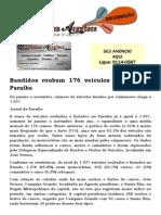 Bandidos roubam 176 veículos por mês na Paraíba