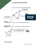 figures usuelles et axes de symétrie (6ème)
