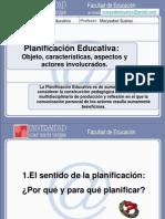 Elementos de La Planificacion Educativa