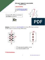 symétrie par rapport à une droite  (6ème)