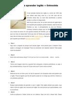 10 dicas para aprender inglês + Entrevista em inglês