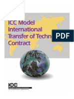 ICC Model International Transfer of Technology Contract