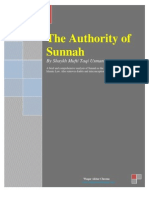 Authority of Sunnah