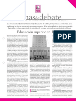 Educacion Sup en Bolivia 2007
