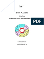 SAP Shift planning interface for MS Excel
