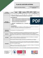 Plan de Auditoria Interna Sdqs Subdireccion de Calidad