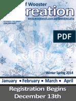 Wooster Recreation Winter Spring Brochure 2014