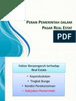 Peran Pemerintah dalam Pasar Real Estate