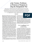 Problems of Using Women as Weapons in Recounting the Bangladesh War