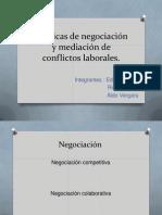 Técnicas de negociación y mediación de conflictos laborales.
