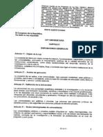 Dictamen de la Ley Universitaria aprobado por la Comisión de Educación