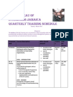 BSJ TRAINING Jan- Mar 2014- 4th Quarter Schedule