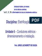 U06 Condutores Eletricos Dimensionamento e Instalacao