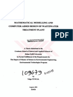 Mathematical Modelling and Computer Aided Design of Wastewater Treatment Plant
