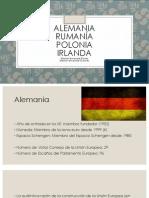 Alemania, Rumanía, Polonia e Irlanda y su papel en la UE