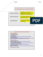 4_ECONOMIA URBANA IV_Factores de Valorizacao