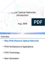 Passive Optical Network Introduction
