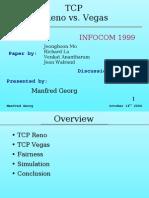 TCP RENO vs TCP VEGAS