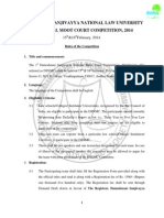 Rules of DSNLU National Moot Court Competition