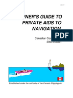 AN OWNER'S GUIDE TO PRIVATE AIDS TO NAVIGATION