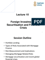 Foreign Investment Securitisation and Financial Crisis