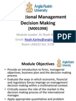 Firms and Managerial Objectives