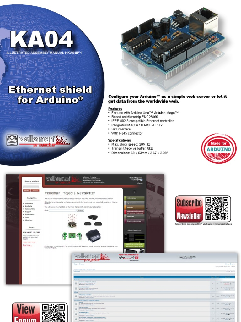 Ethernet shield for Arduino | Resistor | Printed Circuit Board