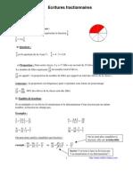 écriture fractionnaire (5ème)