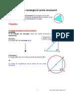 triangle rectangle et cercle circonscrit (4ème)